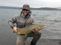 90 Cm Brown trout, Lake thingvellir