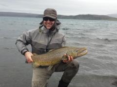 90 Cm Brown trout, Lake thingvellir