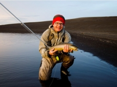 Trout Fishing in Iceland, highlands