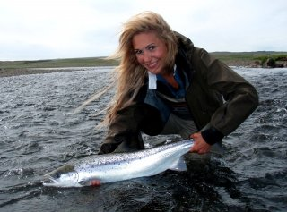 River Midfjardara,Fly fishing salmon in Iceland, April Vokey