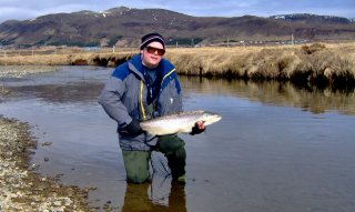 Fly fishing Sea trout in Iceland
