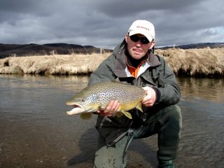 Fly fishing trout in Iceland