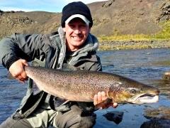 90cm Salmon from river Fossá