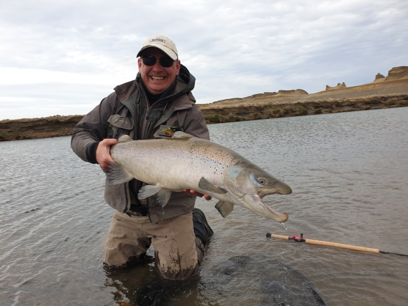 20 pound sea trout from Rio Grande Argentina