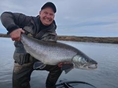 23 pound sea trout from Rio Grande Argentina