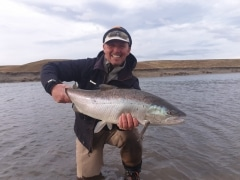 18 pound sea trout from Rio Grande Argentina