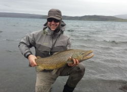 Matt with a 20 pound trout Lake Thingvellir