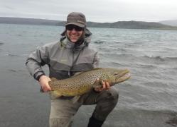 Matt with a 20 pound trout Lake Thingvellir