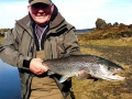 Allan with nice sea trout from Tungulækur