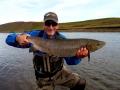 Dave Abbott with Nice hen from River Midfjardara.