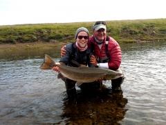 100 cm salmon from Midfjardara