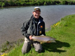 Trout fishing, River Varma iceland
