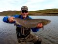 Dave Abbott with Nice hen from River Midfjardara.