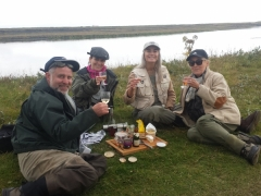 West Ranga salmon fishing.Relaxing at the bank...