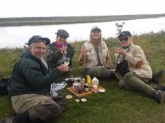 West Ranga salmon fishing.Relaxing at the bank...