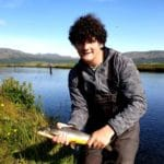 River Hólaá. Arctic Char, trout, fishing,fly fishing, Iceland,