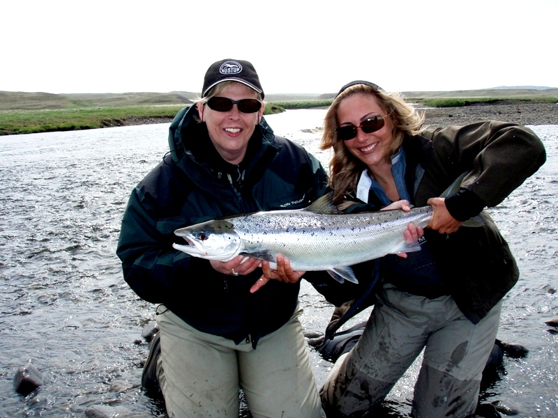 April Vokey-Midfjardara-salmon fishing-Iceland-fly fishing-Angling