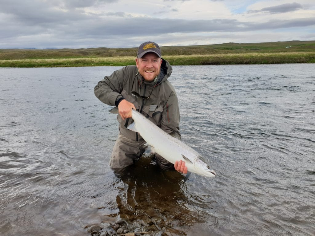 Midfjardara, Salmon fishing, fly fishing, Iceland